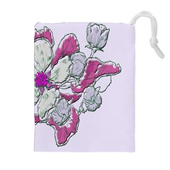 Bouquet Flowers Plant Purple Drawstring Pouches (extra Large) by Nexatart