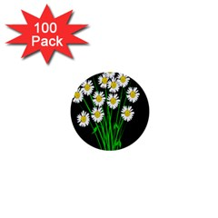 Bouquet Geese Flower Plant Blossom 1  Mini Buttons (100 Pack)