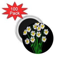 Bouquet Geese Flower Plant Blossom 1 75  Magnets (100 Pack)