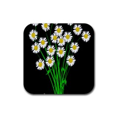 Bouquet Geese Flower Plant Blossom Rubber Square Coaster (4 Pack)  by Nexatart