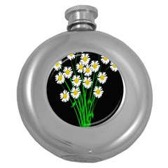 Bouquet Geese Flower Plant Blossom Round Hip Flask (5 Oz)