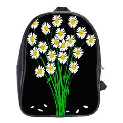 Bouquet Geese Flower Plant Blossom School Bag (large)