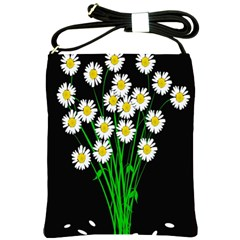 Bouquet Geese Flower Plant Blossom Shoulder Sling Bags