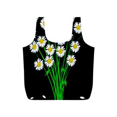 Bouquet Geese Flower Plant Blossom Full Print Recycle Bags (s)