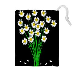 Bouquet Geese Flower Plant Blossom Drawstring Pouches (extra Large) by Nexatart