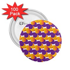 Pattern Background Purple Yellow 2 25  Buttons (100 Pack)