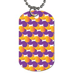 Pattern Background Purple Yellow Dog Tag (one Side)