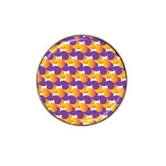 Pattern Background Purple Yellow Hat Clip Ball Marker (4 Pack) by Nexatart