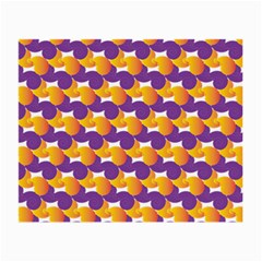 Pattern Background Purple Yellow Small Glasses Cloth