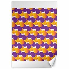 Pattern Background Purple Yellow Canvas 20  X 30