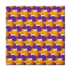 Pattern Background Purple Yellow Face Towel