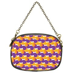 Pattern Background Purple Yellow Chain Purses (one Side)