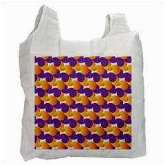 Pattern Background Purple Yellow Recycle Bag (two Side)