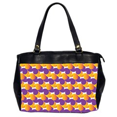 Pattern Background Purple Yellow Office Handbags (2 Sides)