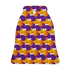 Pattern Background Purple Yellow Ornament (bell)