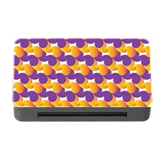 Pattern Background Purple Yellow Memory Card Reader With Cf