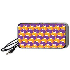 Pattern Background Purple Yellow Portable Speaker (black)