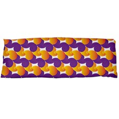 Pattern Background Purple Yellow Body Pillow Case Dakimakura (two Sides) by Nexatart