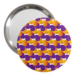 Pattern Background Purple Yellow 3  Handbag Mirrors
