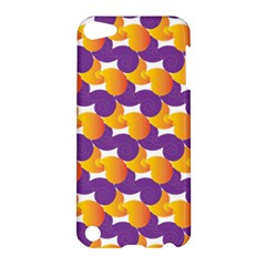 Pattern Background Purple Yellow Apple Ipod Touch 5 Hardshell Case