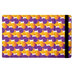 Pattern Background Purple Yellow Apple Ipad 3/4 Flip Case