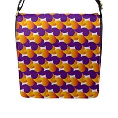 Pattern Background Purple Yellow Flap Messenger Bag (l)