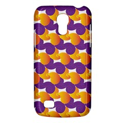 Pattern Background Purple Yellow Galaxy S4 Mini by Nexatart