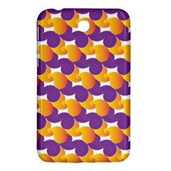 Pattern Background Purple Yellow Samsung Galaxy Tab 3 (7 ) P3200 Hardshell Case  by Nexatart