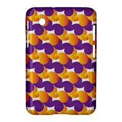 Pattern Background Purple Yellow Samsung Galaxy Tab 2 (7 ) P3100 Hardshell Case  by Nexatart