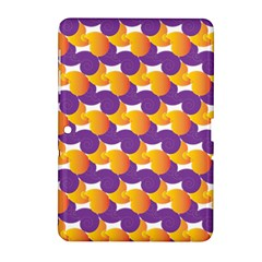 Pattern Background Purple Yellow Samsung Galaxy Tab 2 (10 1 ) P5100 Hardshell Case  by Nexatart