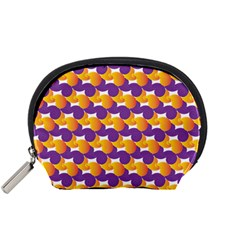 Pattern Background Purple Yellow Accessory Pouches (small)