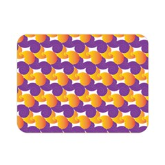 Pattern Background Purple Yellow Double Sided Flano Blanket (mini)