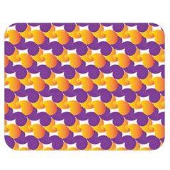 Pattern Background Purple Yellow Double Sided Flano Blanket (medium)  by Nexatart