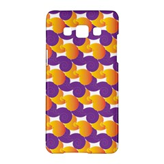 Pattern Background Purple Yellow Samsung Galaxy A5 Hardshell Case  by Nexatart