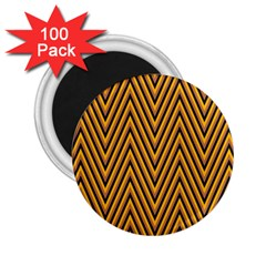 Chevron Brown Retro Vintage 2 25  Magnets (100 Pack)