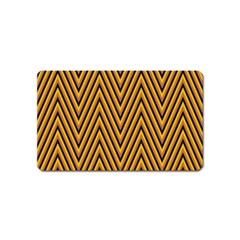 Chevron Brown Retro Vintage Magnet (name Card)