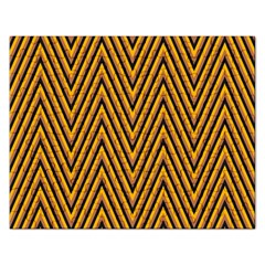 Chevron Brown Retro Vintage Rectangular Jigsaw Puzzl