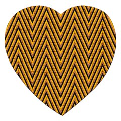 Chevron Brown Retro Vintage Jigsaw Puzzle (heart)