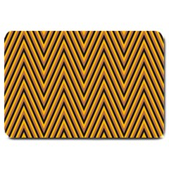 Chevron Brown Retro Vintage Large Doormat