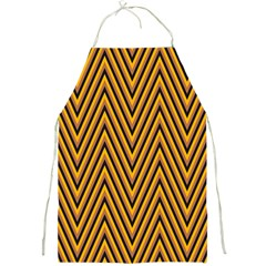 Chevron Brown Retro Vintage Full Print Aprons