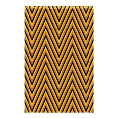 Chevron Brown Retro Vintage Shower Curtain 48  X 72  (small)
