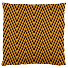 Chevron Brown Retro Vintage Large Cushion Case (one Side)