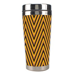 Chevron Brown Retro Vintage Stainless Steel Travel Tumblers by Nexatart