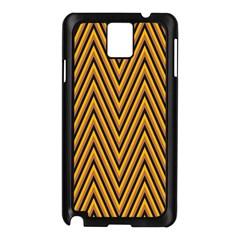Chevron Brown Retro Vintage Samsung Galaxy Note 3 N9005 Case (black)
