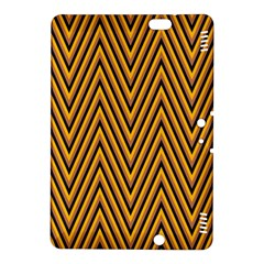 Chevron Brown Retro Vintage Kindle Fire Hdx 8 9  Hardshell Case by Nexatart