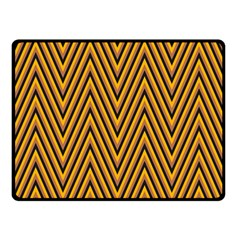 Chevron Brown Retro Vintage Double Sided Fleece Blanket (small)