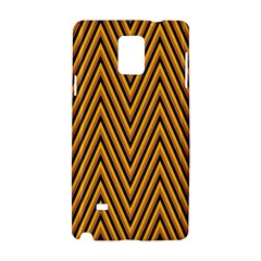 Chevron Brown Retro Vintage Samsung Galaxy Note 4 Hardshell Case by Nexatart