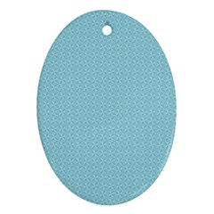 Blue Pattern Background Texture Ornament (oval)