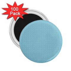Blue Pattern Background Texture 2 25  Magnets (100 Pack)