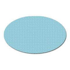 Blue Pattern Background Texture Oval Magnet by Nexatart